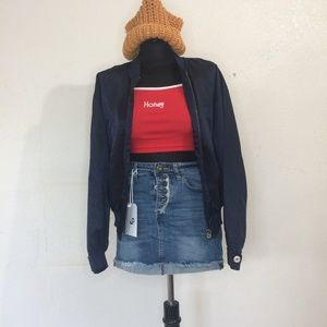 [Aigner] Women Bomber Jacket Dark Blue size M